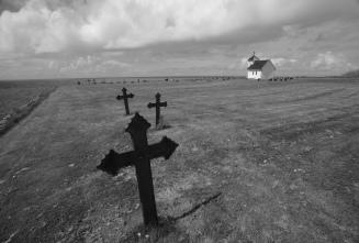 Fra den gamle kirkegården ved havet nær Varhaug.